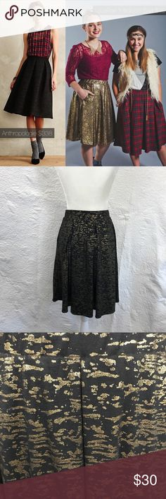 Lularoe unicorn black gold holiday Madison Skirt Holiday edition of the Madison skirt! Pleats and pockets make this a favorite in the LulaRoe line. Gold and black and glam! Good preowned condition. No visible flaws.  The Madison skirt is full skirted and features hand-set box pleats and hidden pockets. It is comfortable and practical for everyday life, but easily dressed up when the occasion demands something fancier. Truthfully, wearing it makes those everyday tasks seem a bit more of…