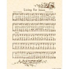 Living For Jesus - one of my favorite hymns