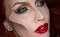 Maleficent makeup by Sandra Holbom/psychosandra