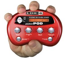 Line 6 Pocket POD Guitar Amp Modeling Processor: The Line 6 Pocket POD is great for modeling on the go. The Line 6 Pocket POD features 32 amp models, 16 cab models, and 16 effects.
