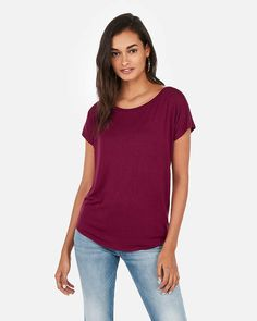 fa47e6cbade Express One Eleven Off The Shoulder London Tee