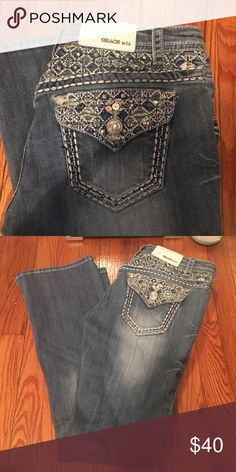 Jeans Great condition, wore maybe three times. Grace Jeans