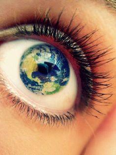 Auge Planet Erde