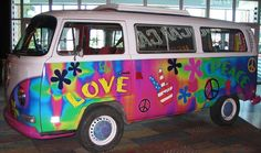 Vintage Volkswagen Bus at Nascar Cafe in Las Vegas