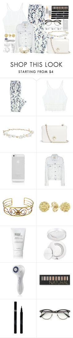"""Flower's Crown."" by luablackoficial ❤ liked on Polyvore featuring Canvas by Lands' End, Robert Rose, Tory Burch, Acne Studios, Lagos, philosophy, Estée Lauder, Clarisonic, Forever 21 and Sisley"