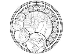 Beauty and the Beast Stained Glass Coloring Page Unique Disney Stained Glass Coloring Pages – Clrg Coloring Pages For Grown Ups, Free Adult Coloring Pages, Cool Coloring Pages, Disney Coloring Pages, Coloring For Kids, Printable Coloring Pages, Coloring Sheets, Coloring Books, Mandalas Painting
