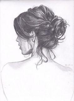 Imagen de hair, girl, and drawing