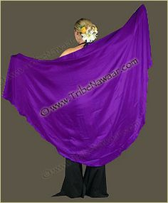 Purple 100% silk veil from Tribe Nawaar... amazing in action!