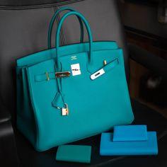 b6c141e6865b B35 Blue Paon Clemence GHW Hermes Birkin