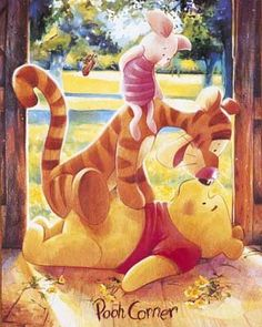Tigger & Piglet Surprise Pooh at Pooh Corner - A. A. Milne 's Winnie the…