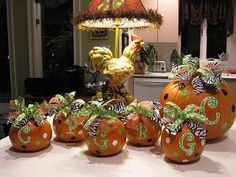 Cute decorated pumpkins from Ramblings of a Southern Girl