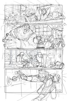 Trying to make a comic page with graphic tablet, messy I am. Comic Book Layout, Comic Book Pages, Comic Books Art, Comic Art, Storyboard Drawing, Comic Drawing, Harry Potter Sketch, Harry Potter Fan Art, Comic Tutorial