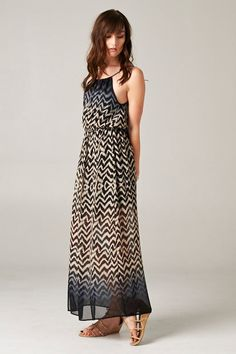 . Woven Chiffon Dress dipped in Blue Midnight