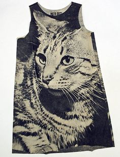 Poster Dress, Ltd. (British). Dress, late 1960s. The Metropolitan Museum of Art, New York. Purchase, Isabel Schults Fund and Martin and Caryl Horwitz and Hearst Corporation Gifts, 1995 (1995.178.1) #cats