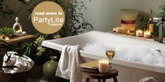 Spa time!  #PartyLite #candles : Shop online at www.PartyLite.biz/NikkiHendrix