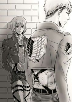 Attack on Titan ~~ Those who survive are often haunted by their pasts. ( 1 of 2 ) :: Armin and Jean