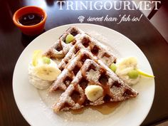 Belgian Waffles from The Canvas Restaurant (breakfast all-day menu)