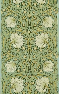 William Morris Patterns, William Morris Art, Unique Paintings, Happy Paintings, Decoupage, Lily Wallpaper, Arts And Crafts Movement, Paint By Number, Textiles