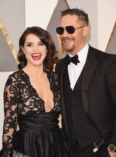 Tom Hardy and Charlotte Riley at event of The Oscars (2016)