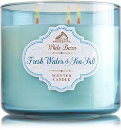 Fresh Water & Sea Salt 3-Wick Candle - Home Fragrance 1037181 - Bath & Body Works