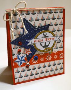 Nautical card using @Pink and Main stamp sets.