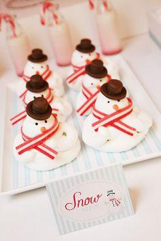 Marshmallow snowmen!
