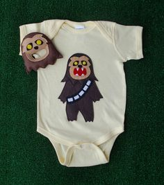 Sewing Wars  Baby Chewbaboo Infant Bodysuit and by micielomicielo, $33.50