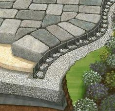 widen driveway with pavers. Or use this edging to hold gravel in place.