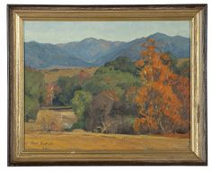Aaron Edward Kilpatrick (1872-1953 Los Angeles, CA).  Landscape, signed lower left: Aaron Kilpatrick, numbered on canvas verso: 50, oil on canvas, 14'' H x 18'' W, est by John Moran Auctioneers