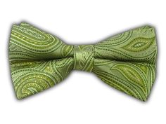 Inspire Paisley - Moss (Bow Ties) - Wear Your Good Tie. Every Day