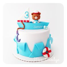Nautical birthday cake - Sailor bear