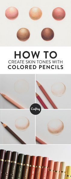 Learn how to create realistic skin tones with colored pencils