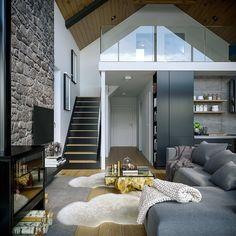 Dormer Bungalow, Good House, Bedroom Carpet, Home Fashion, Smart Home, Home Interior Design, House Plans, Indoor, House Design