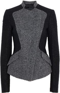 Elie Saab Collarless Tweed Blazer - LoLoBu