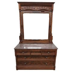 Check out this item at One Kings Lane! Marble Top Dresser & Mirror