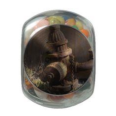 Rusty Hydrant Jelly Belly Candy Jar