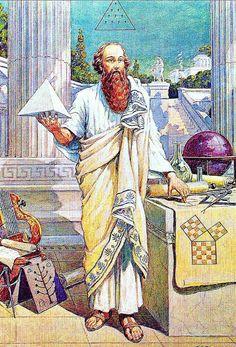Pythagoras cube - Pythagorean Illuminati, Gnostic Illuminism, The Ancient Order of the Illuminati. Masonic Art, Masonic Symbols, Templer, Psy Art, Mystique, Freemasonry, Illuminati, Ancient Greece, Ancient Egypt