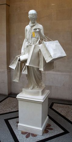 Banksy Sculpture. Works of Art. Shopaholic.