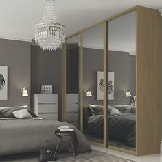 Buy Sliding Doors and track White Frame Arctic White Glass at Argos. Thousands of products for same day delivery or fast store collection. Glass Sliding Wardrobe Doors, Sliding Cabinet Doors, Closet Doors, Living Room Cupboards, Bedroom Cabinets, Unique House Design, Unique Home Decor, Diy Built In Wardrobes, Wardrobes Uk