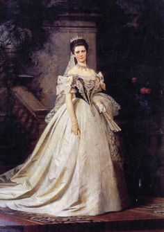 1867 Sisi in Hungarian court dress by ? (location unknown to gogm) | Grand Ladies | gogm