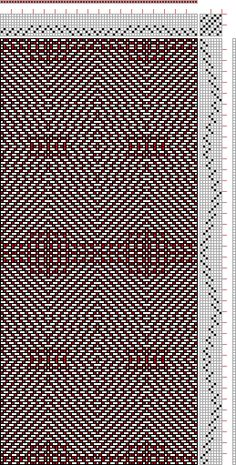 Hand Weaving Draft: cw884119, Crackle Design Project, 8S, 8T - Handweaving.net Hand Weaving and Draft Archive