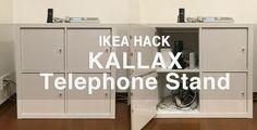 IKEA HACK(イケアハック) – KALLAXを電話台に!ゴチャゴチャしたケーブルを隠してスッキリ収納のメイン画像 #kallax #ikea