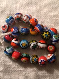 Millefiori beads vintage Murano 5mm round Italian by GiosGems