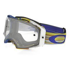 Oakley Airbrake Glitch Blue/Orange/White Goggles