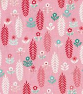 Keepsake Calico Fabric- Pink Wheat Floral