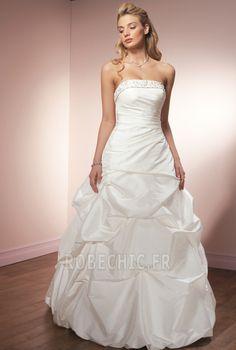 Robe de mariée Mode de Bal Longueur ras du Sol Glamour Lacet Salle
