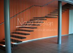 escaleras en mensula con tensores Venta de Escaleras y Barandas - Novo Design