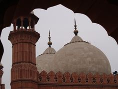 The Badshahi Mosque was built by the Mughals in Lahore, Pakistan in 1673