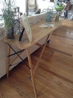 Vintagewooden ironing board by GennyDarling on Etsy                                                                                                                                                                                 More