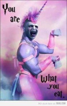 Voldemort the unicorn? Voldemort the unicorn. Memes Do Harry Potter, Images Harry Potter, Harry Potter Funny Pictures, Harry Potter Fandom, Harry Potter Ghosts, Harry Potter Tumblr Funny, Doug Funnie, Fandoms, Fantastic Beasts
